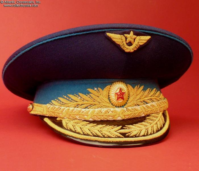 db772b325 Collect Russia Air Force General visor hat, circa late 1980s - early ...